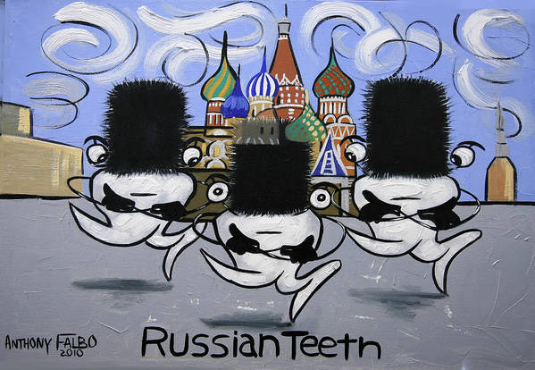 Russian Tooth Art Print featuring the painting Russian Tooth by Anthony Falbo
