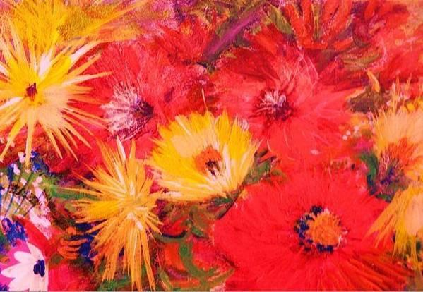 Splashy Art Print featuring the painting Splashy Floral II by Anne-Elizabeth Whiteway