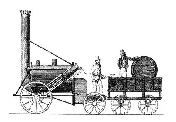 Science Art Print featuring the photograph Stephensons Rocket 1829 by Science Source