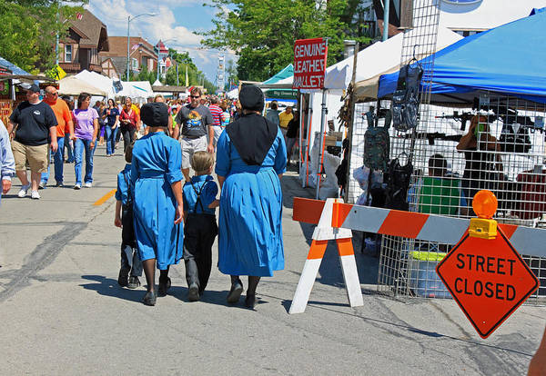 Festival Art Print featuring the photograph Summer Festival In Berne Indiana II by Suzanne Gaff