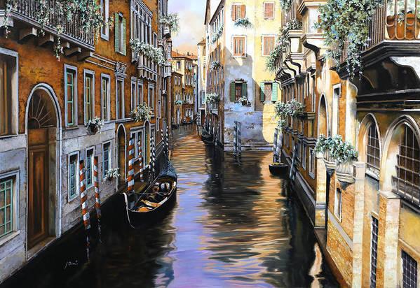 Venezia Art Print featuring the painting Tanta Luce A Venezia by Guido Borelli