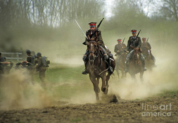 Cavalry Art Print featuring the photograph The Battle by Angel Ciesniarska