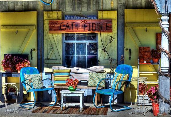 Metamora Indiana Art Print featuring the photograph The Cat And The Fiddle by Mel Steinhauer