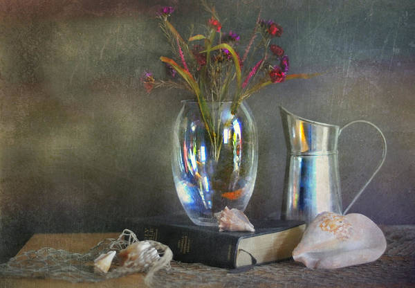 Still Life Art Print featuring the photograph The Crystal Vase by Diana Angstadt
