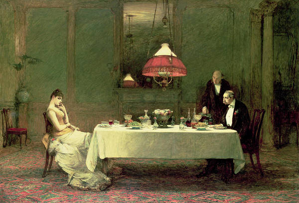 Dinner Art Print featuring the painting The Marriage Of Convenience, 1883 by Sir William Quiller Orchardson