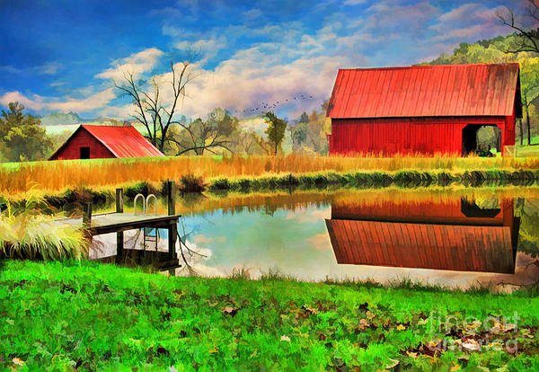 Agriculture Art Print featuring the photograph The Swimming Hole by Darren Fisher