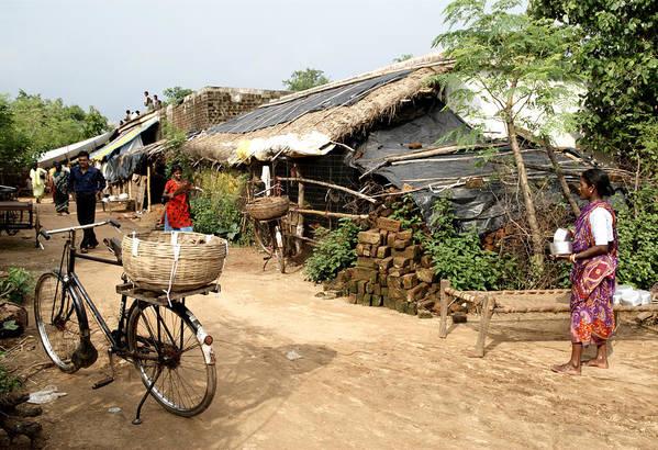 Village Scene In Bhubaneswar, Orissa, India  Art Print
