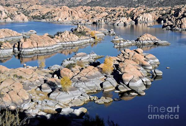 Lake Art Print featuring the photograph Watson Lake And The Granite Dells by Jim Chamberlain