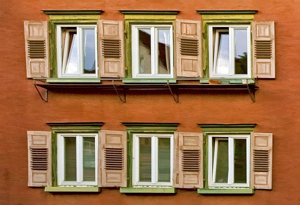Architecture Art Print featuring the photograph Windows by Marcia Colelli