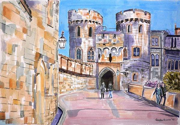 Windsor Castle Art Print featuring the painting Windsor Castle by Geeta Biswas
