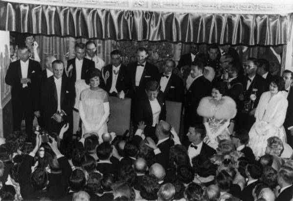History Art Print featuring the photograph 1960 Inaugural Ball. President Kennedy by Everett