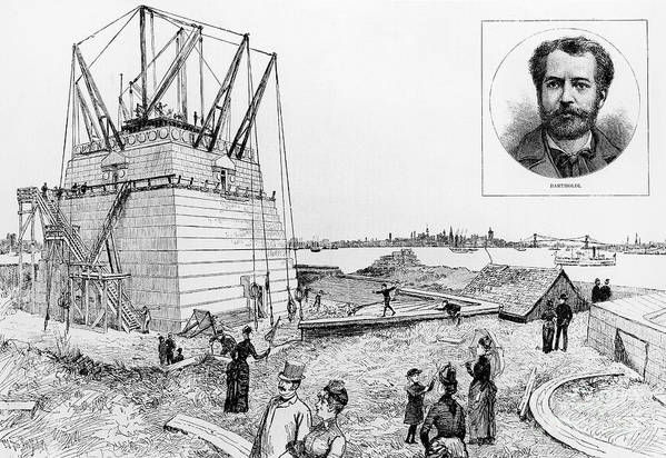 1884 Art Print featuring the photograph Statue Of Liberty, C1884 by Granger