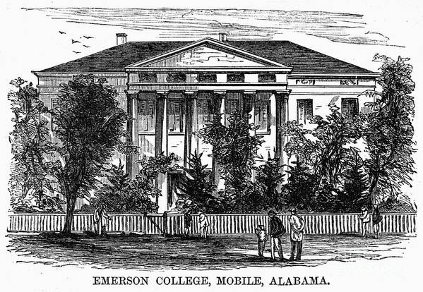 1868 Art Print featuring the photograph Alabama: Emerson College by Granger