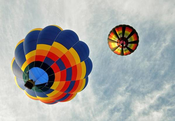 Balloon Art Print featuring the photograph Balloons On The Rise by Rick Frost