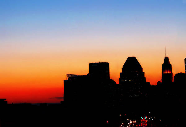Baltimore Art Print featuring the photograph Baltimore City At Dusk by Artondra Hall