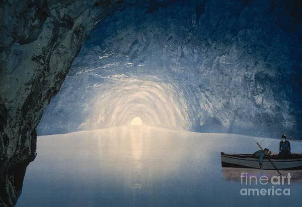 Blue Grotto Of Capri Island Art Print featuring the photograph Blue Grotto Of Capri Island by Padre Art