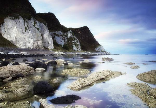 Atmosphere Art Print featuring the photograph Coast Between Carnlough & Waterfoot, Co by The Irish Image Collection