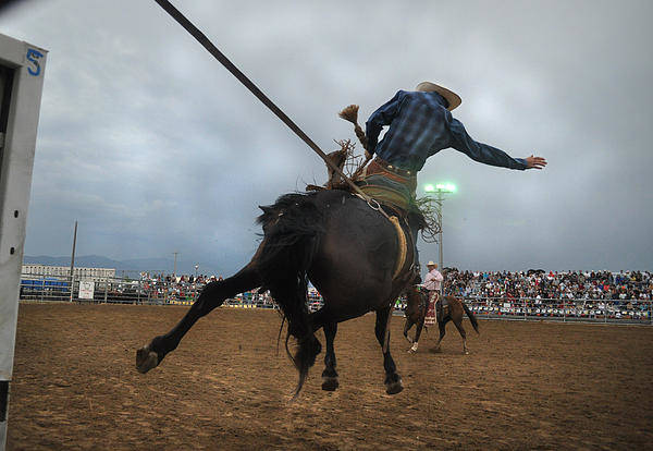 Rodeo Art Print featuring the photograph Electric Skies by Jeff Krogstad