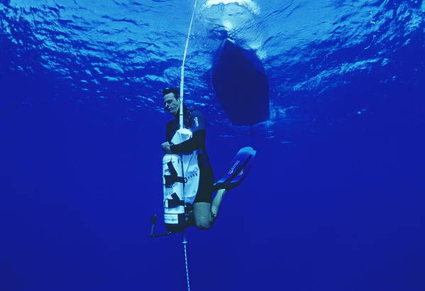 Equipment Art Print featuring the photograph Free-diving Training by Alexis Rosenfeld