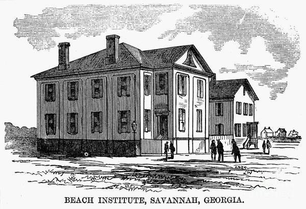 1868 Art Print featuring the photograph Freedmen School, 1868 by Granger