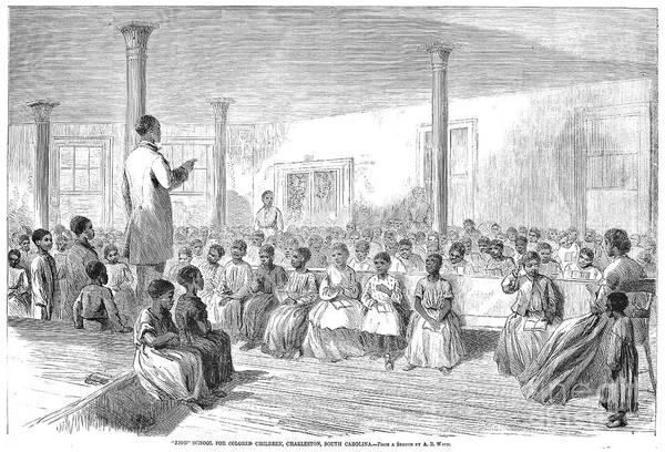 1866 Art Print featuring the photograph Freedmens School, 1866 by Granger