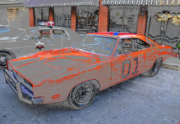 Art Art Print featuring the painting General Lee One by David Lee Thompson