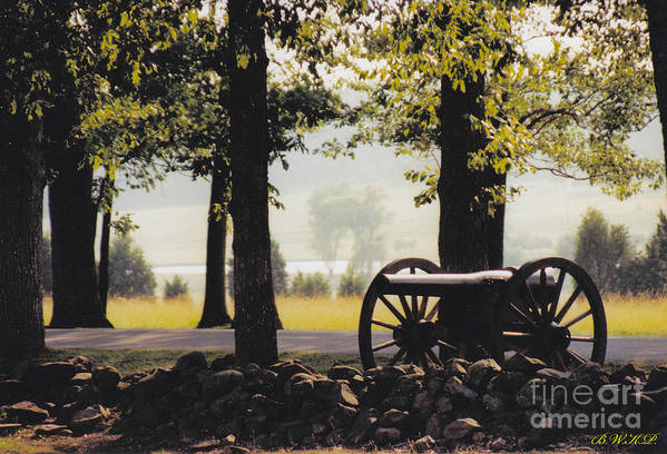 Gettysburg Art Print featuring the photograph Gettysburg Artillery by Barbara Plattenburg