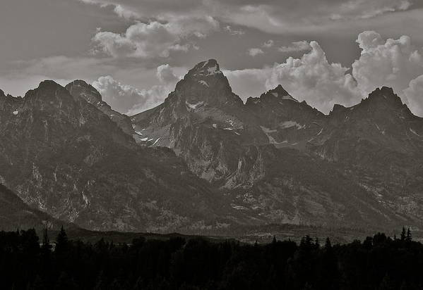 Mountains Art Print featuring the photograph Grand Tetons by Eric Tressler
