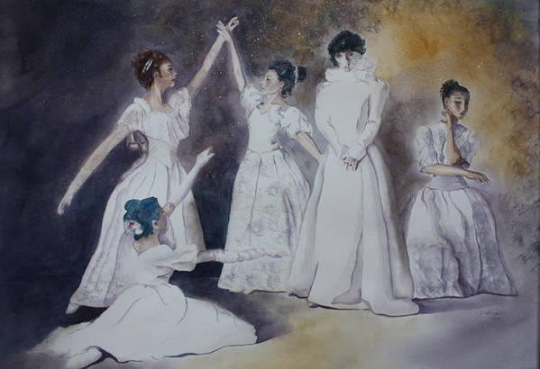 Ballet Dancers Art Print featuring the painting Magic by Patsy Sharpe
