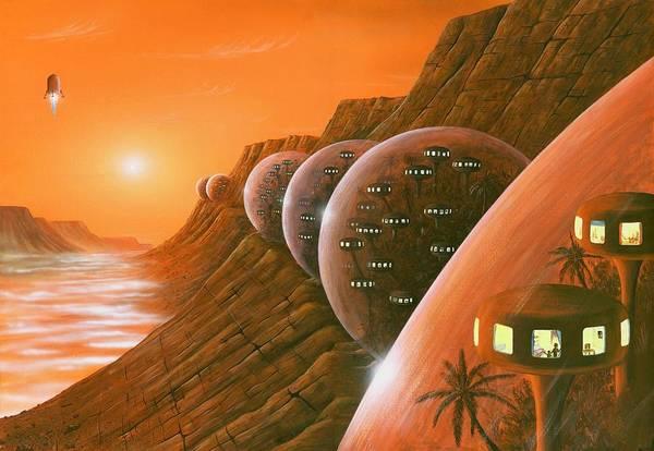 Sun Art Print featuring the photograph Martian Colony, Artwork by Richard Bizley