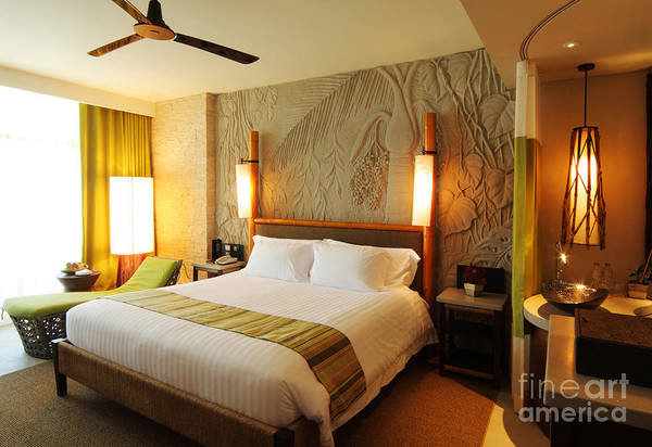 Hotel Art Print featuring the photograph Nice Hotel-room by Atiketta Sangasaeng