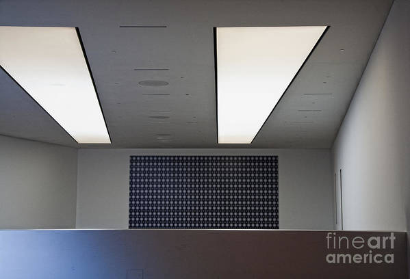 Bleak Art Print featuring the photograph Office Ceiling by David Buffington