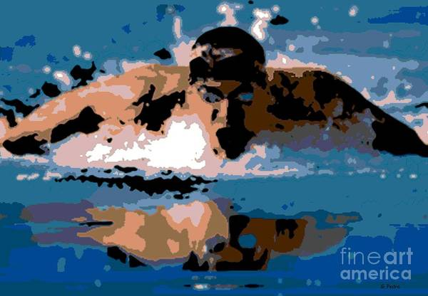 Michael Phelps Art Print featuring the photograph Phelps 1 by George Pedro