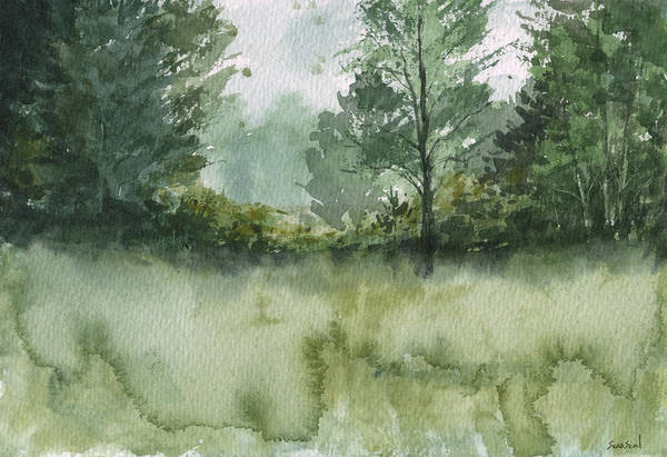 Landscape Art Print featuring the painting Plein Air 1 by Sean Seal