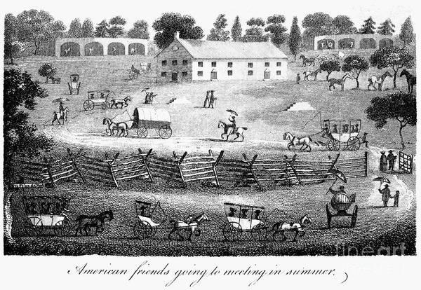 1811 Art Print featuring the photograph Quaker Meeting, 1811 by Granger