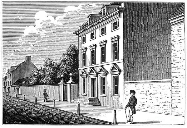 18th Century Art Print featuring the photograph Robert Morris House by Granger