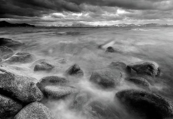 Horizontal Art Print featuring the photograph Sand Harbor, Lake Tahoe State Park by David Kiene