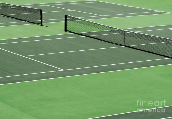 Sport Art Print featuring the photograph Tennis Court by Blink Images