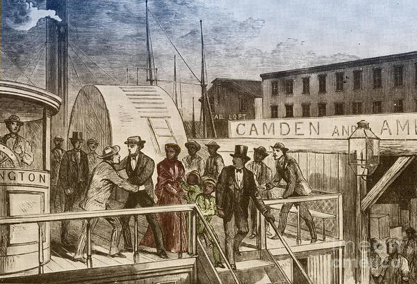 America Art Print featuring the photograph The Rescue Of Jane Johnson And Her by Photo Researchers