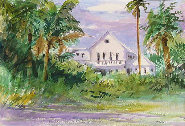 Houses Art Print featuring the painting Usepa Island House by Heidi Patricio-Nadon