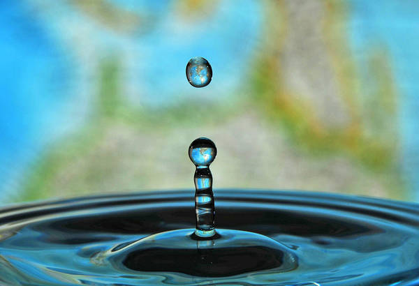 Water Art Print featuring the photograph Water Drop 2 by Donna Caplinger