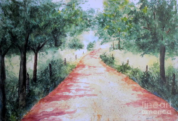 Country Road Art Print featuring the painting A Country Road by Vicki Housel