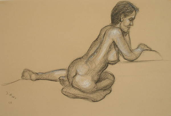 Realism Art Print featuring the drawing Loma 2 by Donelli DiMaria