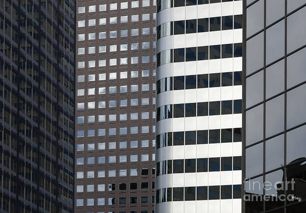 Architecture Art Print featuring the photograph Modern High Rise Office Buildings by Roberto Westbrook