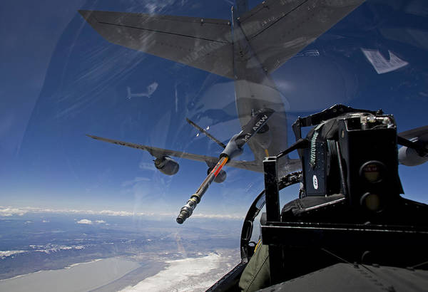 Color Image Art Print featuring the photograph An F-15 Eagle Pulls Into Position by HIGH-G Productions