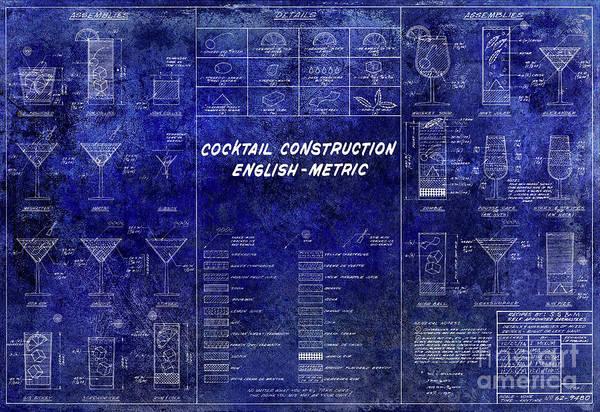 The cocktail construction blueprint art print by jon neidert cocktail construction art print featuring the photograph the cocktail construction blueprint by jon neidert malvernweather Choice Image