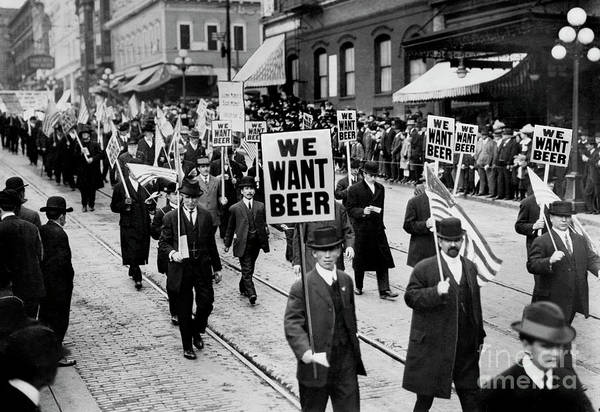 Prohibition Art Print featuring the photograph We Want Beer by Jon Neidert