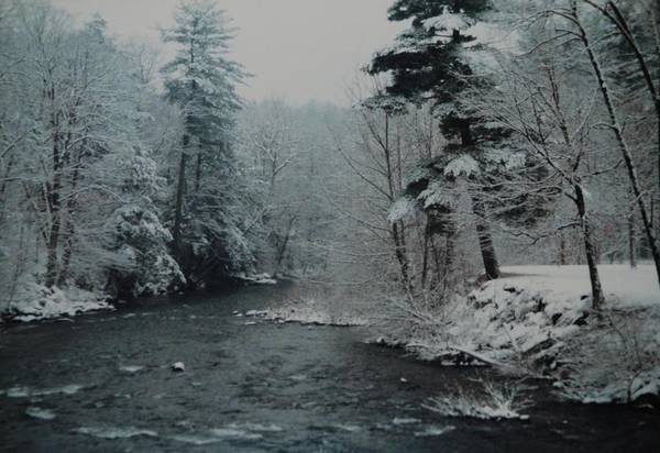 B&w Art Print featuring the photograph A Winter Waterland by Rob Hans