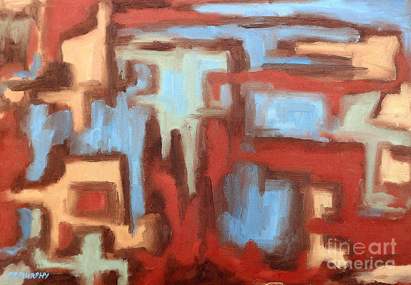 Abstract Art Print featuring the painting Abstract 147 by Patrick J Murphy