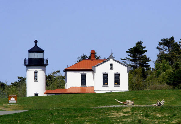 Admiralty Head Lighthouse Art Print featuring the photograph Admiralty Head Li 2014 by Mary Gaines